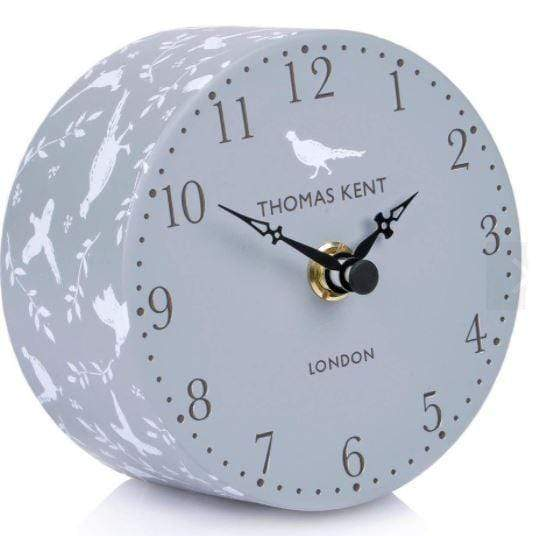 small grey alarm clock