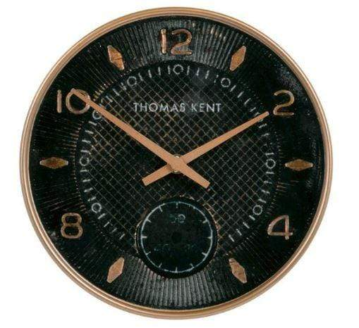 23 cm retro-styled black-faced wall clock