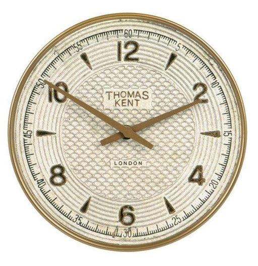23 cm retro-styled white-faced wall clock