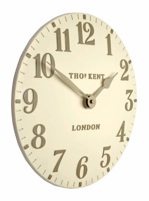 Cream Thomas Kent Wall Clock shown side on