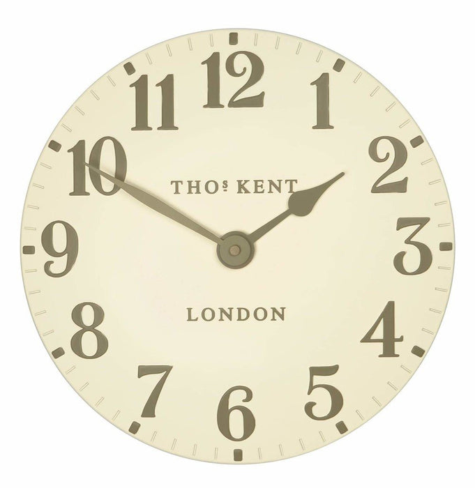 Cream Thomas Kent Wall Clock shown front on