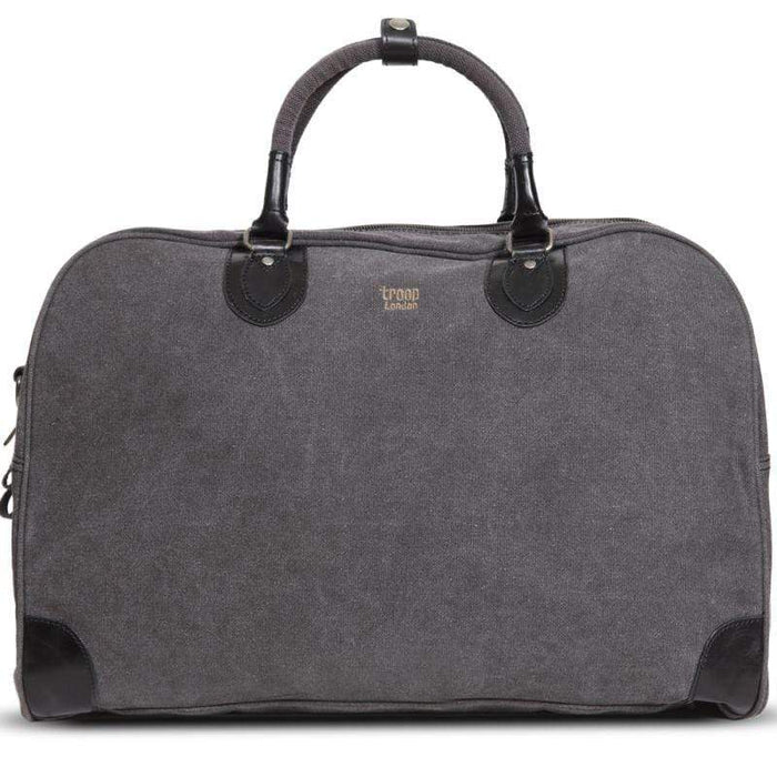 Oblique view of Back view of Troop London Classic large canvas holdall
