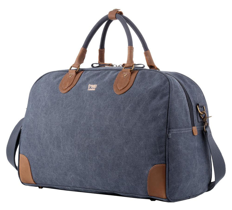 Large blue weekend bag by troop London