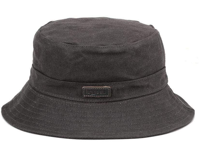 Charcoal canvas fisherman's hat