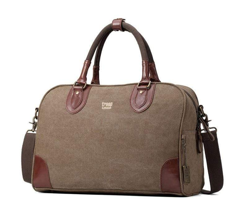 Medium sized weekend bag. Brown. By Troop London