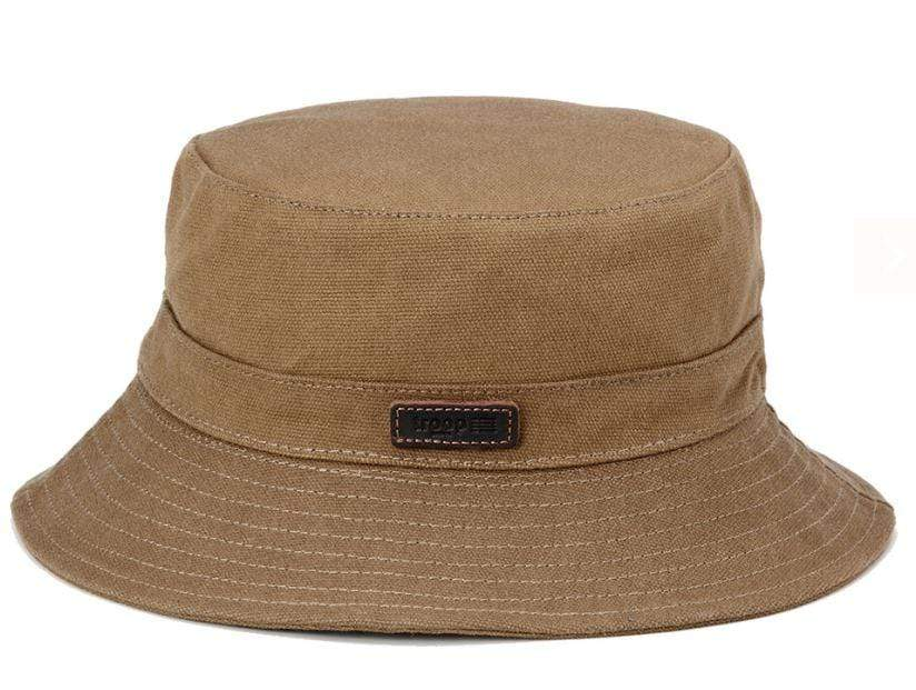 Camel canvas fisherman's hat