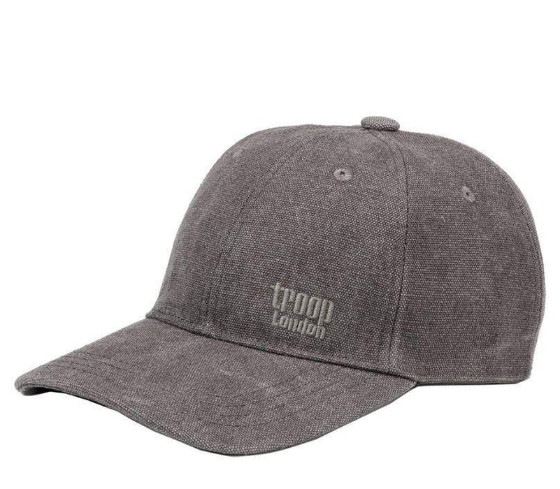 Charcoal coloured peaked fashion cap