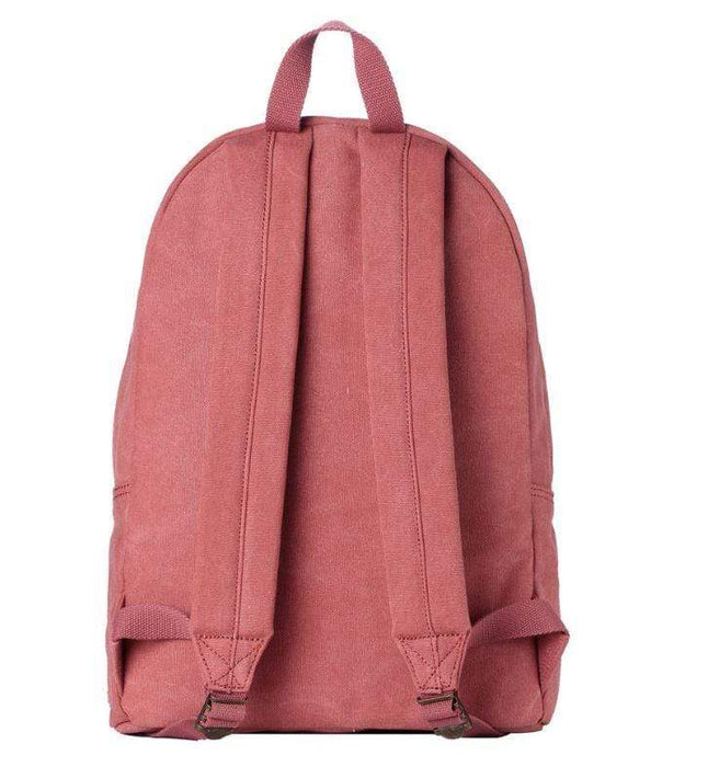 Ladies pink canvas backpack by Troop London rear view