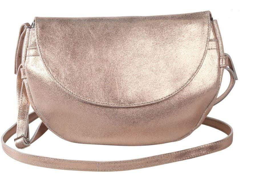 Ladies iridescent evening bag with long strap
