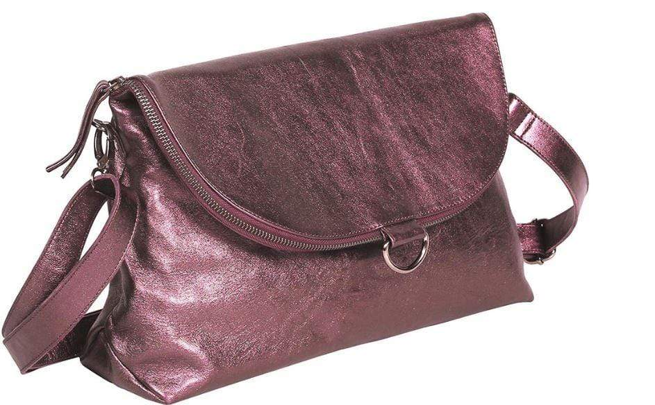 Purple iridescent shoulder bag