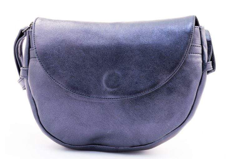 Petrol blue ladies evening bag with strap