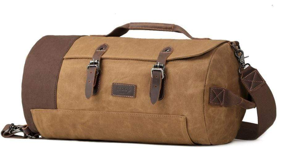 Deluxe camel coloured weekender bag. By Troop London