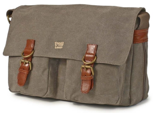 Brown Satchel Bag by Troop London