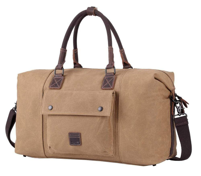 Troop London Camel coloured weekend bag.
