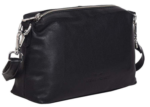 Soft black leather luxury handbag