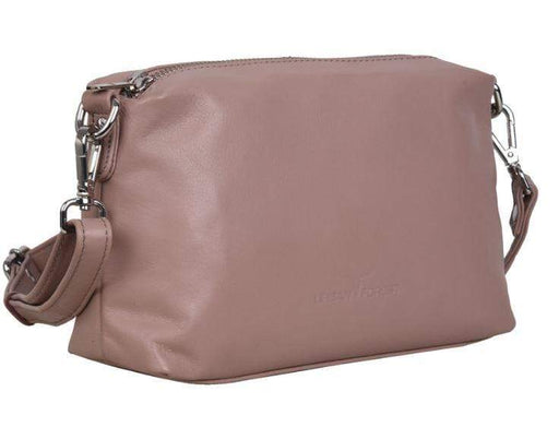 Soft pink leather luxury handbag