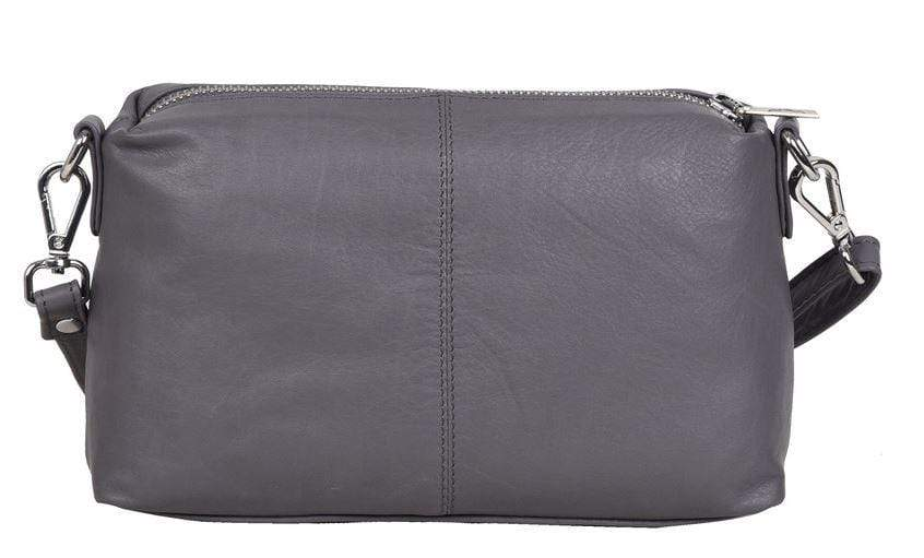Lauren Small Soft Leather Handbag - Fenasia Grey