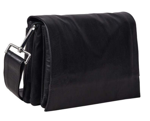 Louise Smaller Soft Leather Hand Bag w/flap - Florence Black