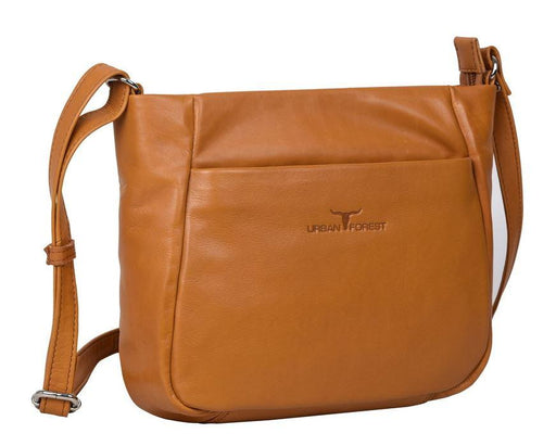 Deluxe womens' leather bag camel coloured by Urban Forest