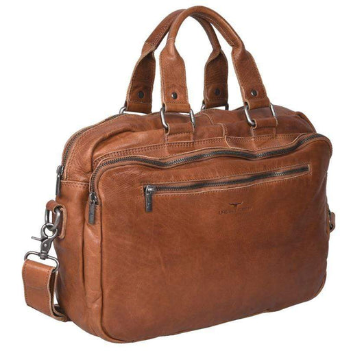 Quality  Leather Laptop Satchel/Briefcase with strap and handles. By Urban Forest