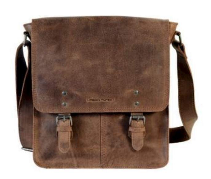 Brown Leather Satchel Bag by Urban Forest.