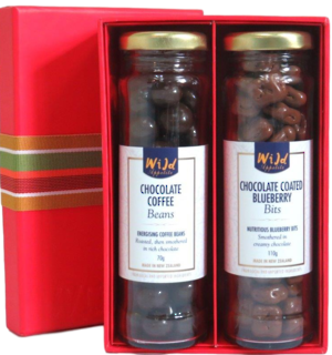 Gift box with two jars of chocolates