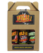 3 hot and spicy sauces in a gift box