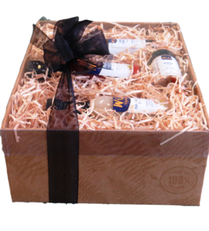 large gourmet gift hamper with 9 sauces