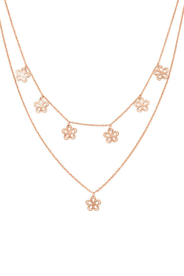 Flower Child layered necklace