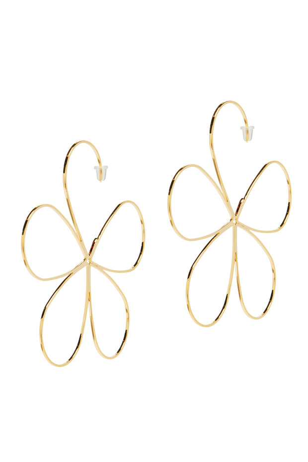 "azuma flower ""side hangz"" earrings"