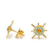 sol stud earrings