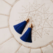 Antonia Tassel Earrings (cobalt blue colored)