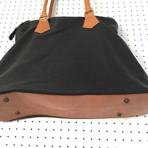overnight bag | black perforated