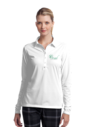 Cozad Country Club - Nike Golf Ladies Long Sleeve Dri-FIT Stretch Tech Polo