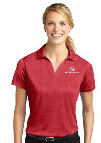 Francis Lauer Sport-Tek® Ladies Heather Contender™ Polo - Scarlet Heather