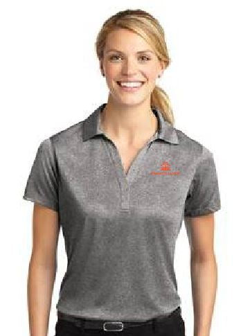 Francis Lauer Grey Sport-Tek® Ladies Heather Contender™ Polo