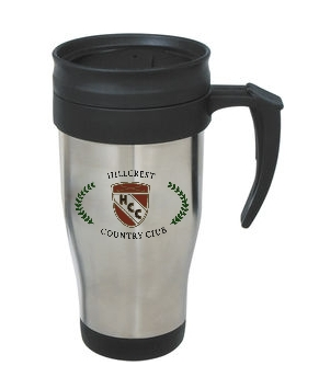 Hillcrest Country Club - 14 Oz. Stainless Steel Travel Mug