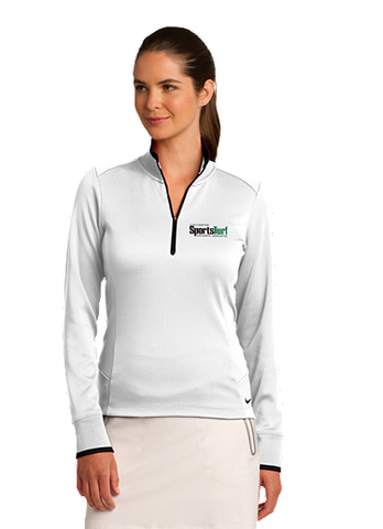 Iowa SportsTurf Managers Association Nike Golf Ladies Dri-FIT 1/2-Zip Cover-Up