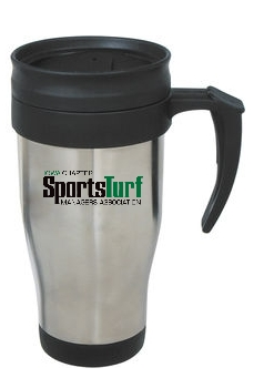 Iowa SportsTurf Managers Association 14 Oz. Stainless Steel Travel Mug