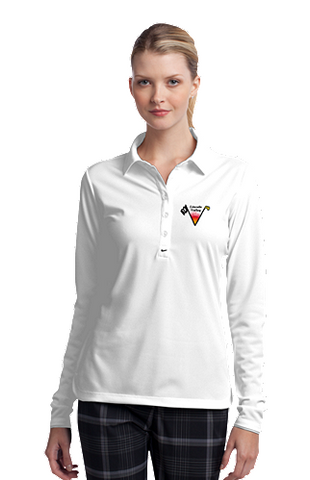 Lincoln Valley Golf Course - Nike Golf Ladies Long Sleeve Dri-FIT Stretch Tech Polo