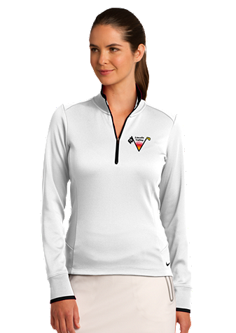 Lincoln Valley Golf Course - Nike Golf Ladies Dri-FIT 1/2-Zip Cover-Up