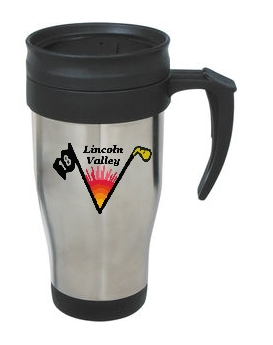 Lincoln Valley Golf Course - 14 Oz. Stainless Steel Travel Mug