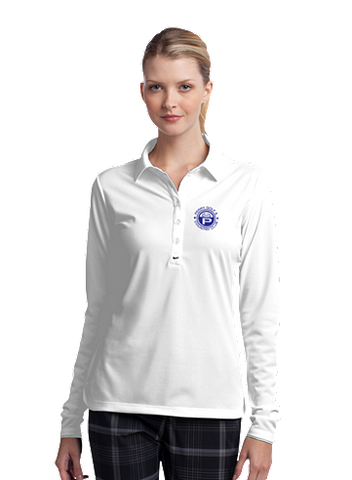Perry Country Club Nike Golf Ladies Long Sleeve Dri-FIT Stretch Tech Polo