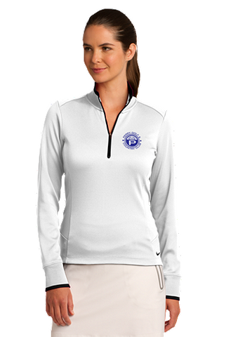 Perry Country Club Nike Golf Ladies Dri-FIT 1/2-Zip Cover-Up
