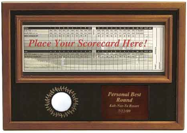 Perry Country Club Personal Best Ball & Scorecard Display