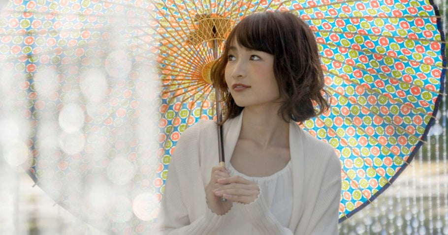 How to use a Japanese umbrella and care tips to use with care