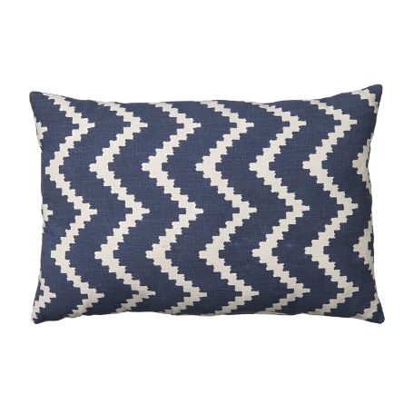 Ikat Sema Blue Cushion & Off White Outdoor Cushion