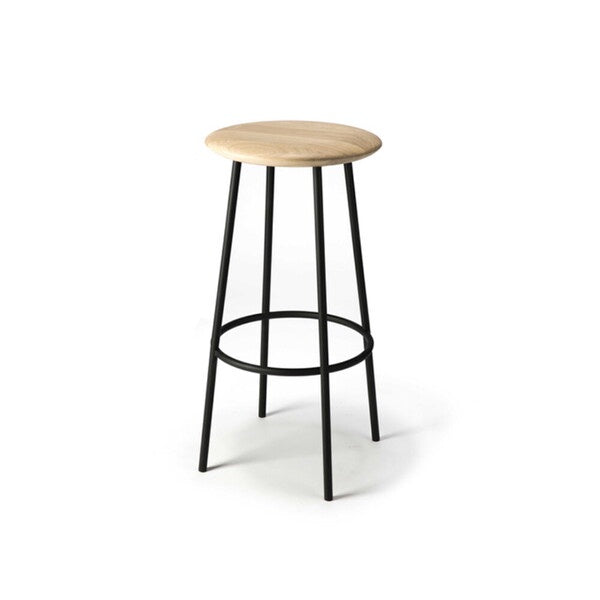 Oak Baretto Bar Stool