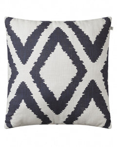 Cushion Cotton Diamond Outdoor - Blue / Off White