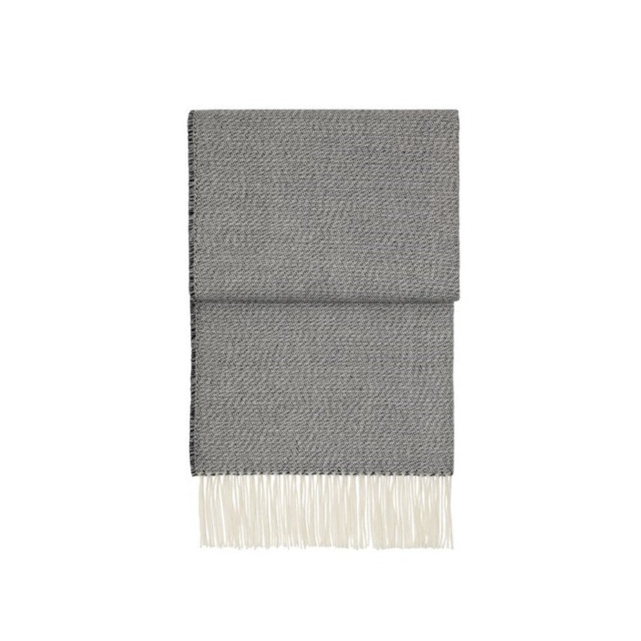 Breeze throw  - black, flint grey & white